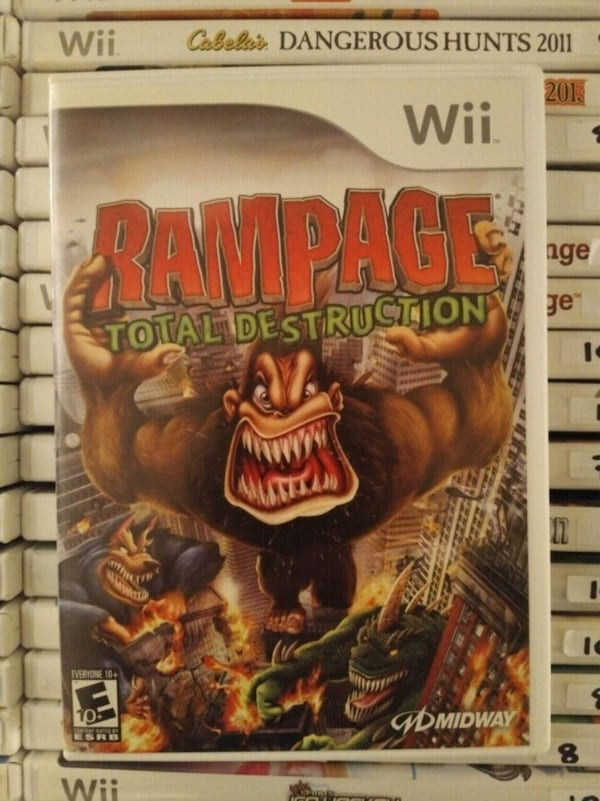 Used Nintendo Wii Rampage Total Destruction For Sale In Vaughan