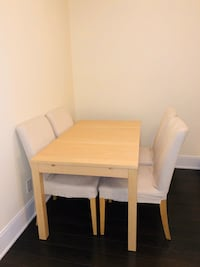Dining set extendable