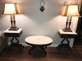 Marble top table set