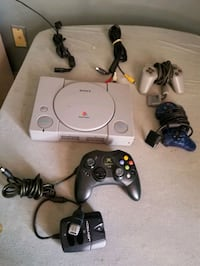 Sony playstation with 2 controllers