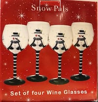 Christmas Wine Glasses Green Tree, 15220