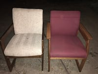 Gently used wood and cushion arm chairs Lake City, 32055