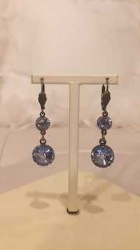 Anthropologie earrings. Purplish crystals  North Vancouver, V7R 3W8