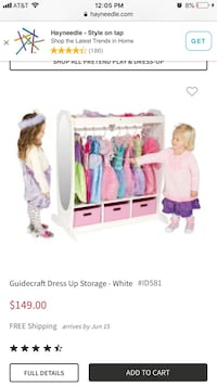Pink and white wooden dress up station only  Braselton, 30517