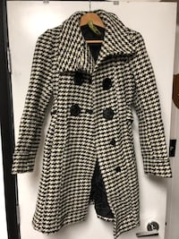Soia& Kyo womens wool houndstooth jacket sz Small