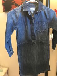blue denim button-up shirt Toronto, M6M 5A7