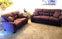 Special!!! New!! 2pcs Warm Purple Sofa Set • Includes Delivery & Taxes Las Vegas