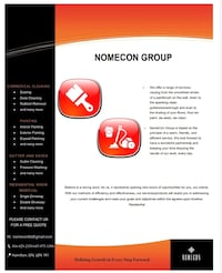 Nomecon Services (office cleaning and painting) Hamilton