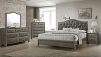 BRAND NEW GREY TUFTED QUEEN BEDROOM SET! Delivery and Assembly Included!! Atlanta, 30315