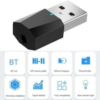 Bluetooth 4.2 Wireless USB/CABLE Audio Music Stereo 514$655$4028