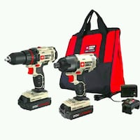 black and red cordless power drill Clyde, 28721
