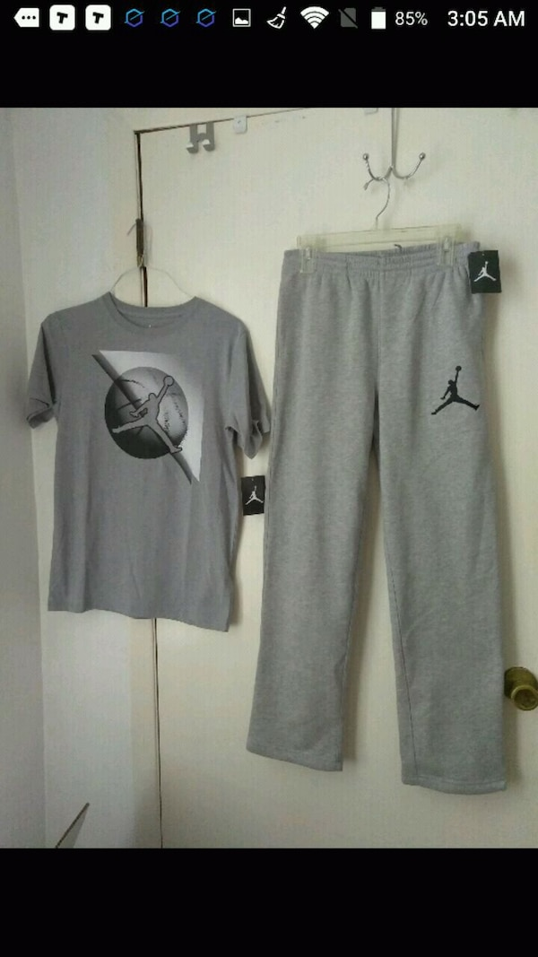 599d98c37983c4 Used Boys L-XL Jordan sweat pants and shirt for sale in Lyndhurst - letgo