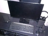 black flat screen computer monitor and keyboard Montréal, H1S 1J7