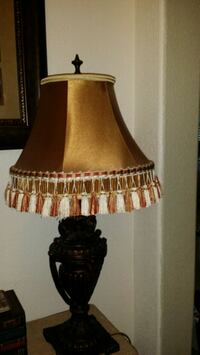 Bronze lamp with gold shade Leander, 78641