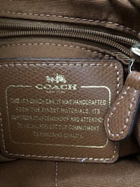 Brown monogrammed coach leather tote bag Brighton, 80601
