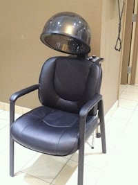 black leather padded rolling armchair Richmond Hill, L4C