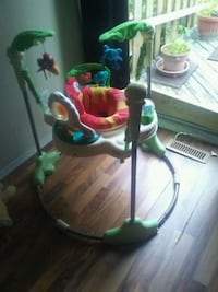 baby's green and white jumperoo. Edmonton, T5A