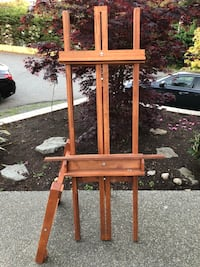 "Heavy Duty Easel "" interior wood craft "" brand . Nanaimo, V9T 2N6"