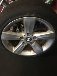 chrome BMW 5-spoke wheel with tire Dartmouth, B2W
