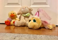 Spring animal plush toys in excellent condition Ashburn, 20147