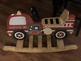 Super Sturdy Teamson Kids Fire Truck Rocker!