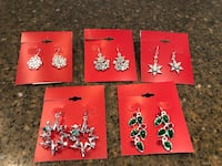 5 Sets of Brand New Winter/Christmas Earrings Price is For All Manassas, 20112