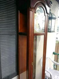 brown wooden framed glass display cabinet Catonsville, 21228