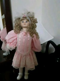Stand doll in pink and white dress  Bellevue, 68157