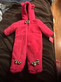 Pink Leopard waterproof  suit  3-6 months  Costa Mesa, 92627