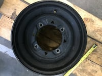 "Polaris wheels rims used factory black faded paint 12""X8"" with a 6+2 offset selling at $25.00 each or $40.00 for both. Hendersonville"