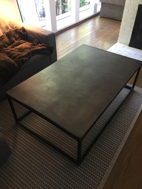 Rh Metal Parquet Coffee Table