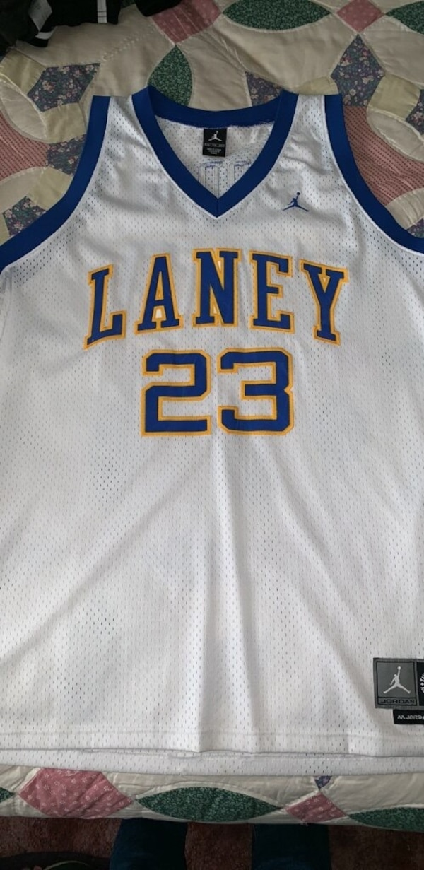 size 40 a5cb3 86189 Authentic Michael Jordan Laney High School Jordan Jersey Size 2XL