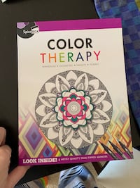 Color Therapy Coloring Book Kit With 4 Markers Green, Red, Yellow, Pink Bethesda, 20814