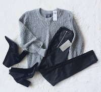 Wool Alpaca Sweater ($35 Size XS) / Faux Leather Pants ($30 Size XS) / Silk Boots ($80 All Sizes) Mount Royal