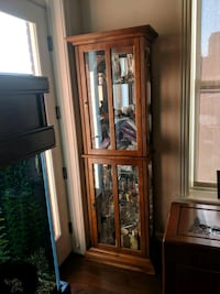brown wooden framed glass display cabinet Washington, 20008