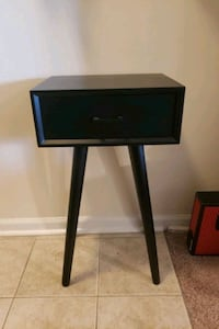 Black Wood Accent Table with Large Drawer Bethlehem, 18018