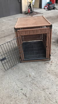 woven brown pet cage Orange, 92865
