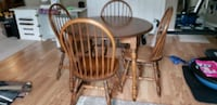 Table and 4 chairs side board Caledonia