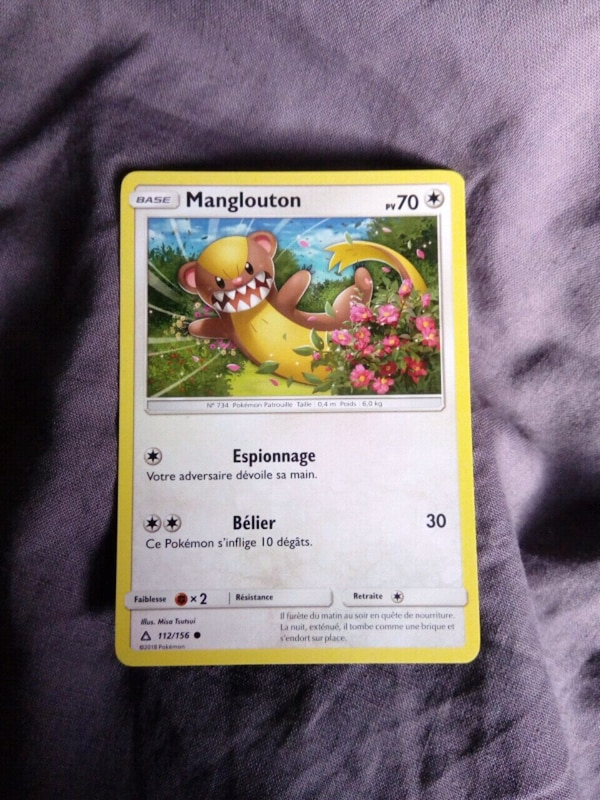 Carte à collectionner Pokemon Manglouton
