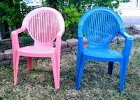 Coral and Periwinkle outdoor chairs Colorado Springs, 80904