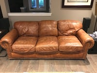 brown leather 3-seat sofa Ancaster, L9G 1R7