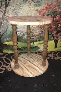 Two Tier Marble Table  Sherwood Park, T8A 3Y3
