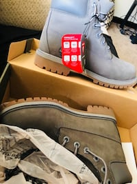 """Youth Timberland 6"""" Classic Boot Gray North Versailles, 15137"""