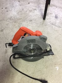 Black and decker circular saw with laser, used for one job