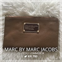 Brun skinn marc av marc jacobs clutch bag