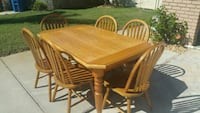 Oak table & chairs Largo