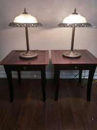 End coffee tables and lamps.