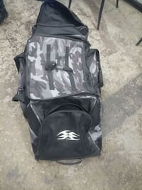 black and gray backpack and bag 549 km