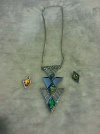 BRAND new necklace and earring set