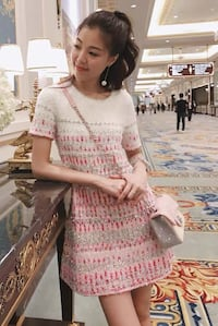 Brand new Chanel style dress in pink